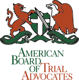 Logo of American Board of Trial Advocates