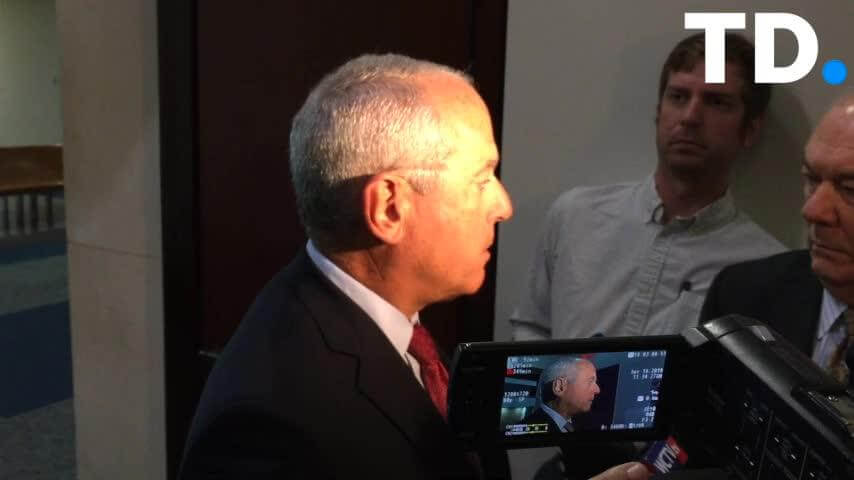 Screenshot of Coffey in news video